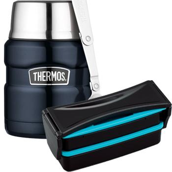 Combo bento thermos bleu - TH4BL-Color