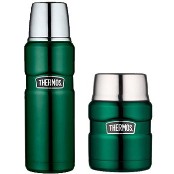 pack thermos king extra longue duree thermos et bouteille vert. Black Bedroom Furniture Sets. Home Design Ideas